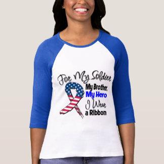 Brother - My Soldier, My Hero Patriotic Ribbon T-Shirt
