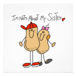 Brother-Nuts About My Sister Personalized Invite
