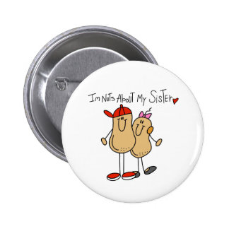 Brother-Nuts About My Sister Pinback Button