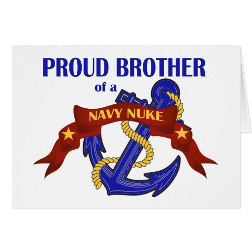 Brother of a Navy Nuke Greeting Card