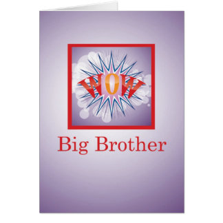 Brother of Big Baby Brother, Congratulations WOW! Card
