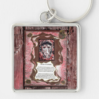 Brother of Confusion Silver-Colored Square Keychain