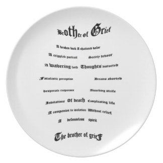 Brother of Grief Melamine Plate