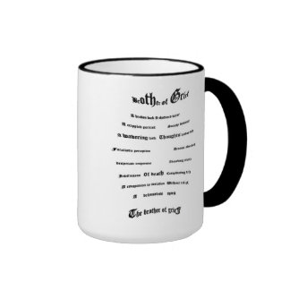 Brother of Grief Ringer Coffee Mug