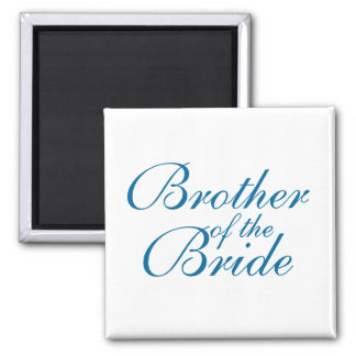 Brother of the Bride 2 Inch Square Magnet