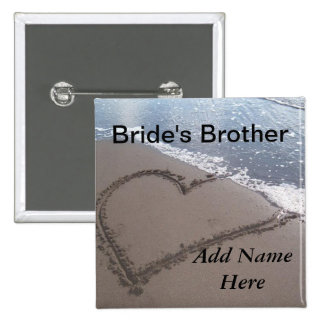 Brother Of The Bride Beach Wedding Button