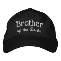 BROTHER of the BRIDE Custom Name BLACK B4 Embroidered Baseball Cap