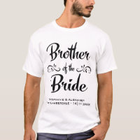 Brother of the Bride Funny Rehearsal Dinner T-Shirt