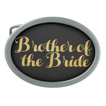 Wedding Themed Brother of the bride gold belt buckle