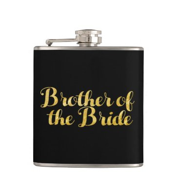 Wedding Themed Brother of the bride gold flask