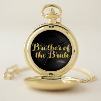 Brother of the bride gold pocket watch
