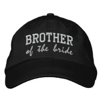 Brother of the Bride / Groom Embroidered Baseball Hat