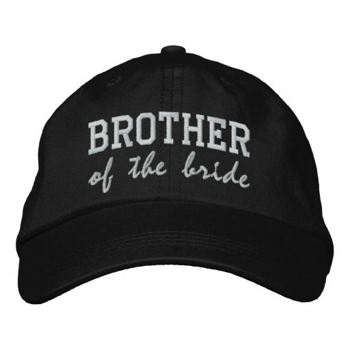 88ff29bad25 Brother of the Bride   Groom Embroidered Baseball