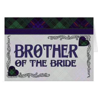 Brother of the Bride - Invitation Armstrong tartan Greeting Card