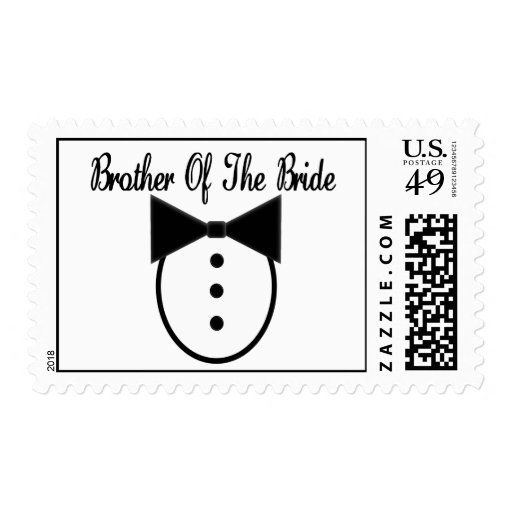 Brother of the Bride Postage Stamps