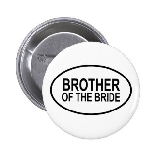 Brother of the Bride Wedding Oval Pins