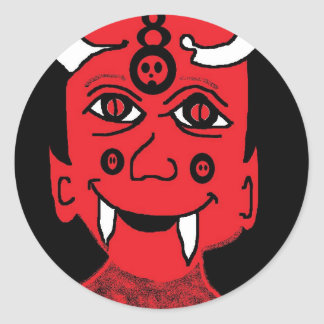 brother of the damned classic round sticker