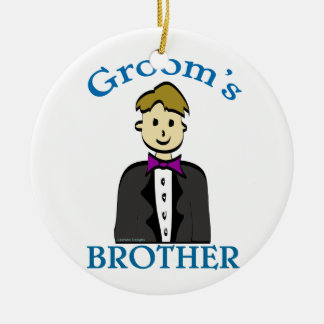Brother of the Groom Ceramic Ornament
