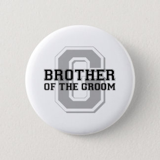 Brother of the Groom Cheer Pinback Button