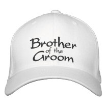 Brother of the Groom Embroidered Wedding Cap
