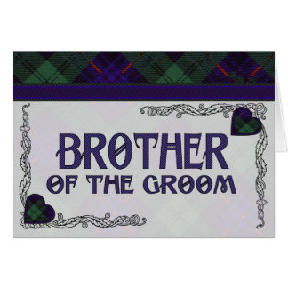 Brother of the Groom - Invitation Armstrong tartan Greeting Card