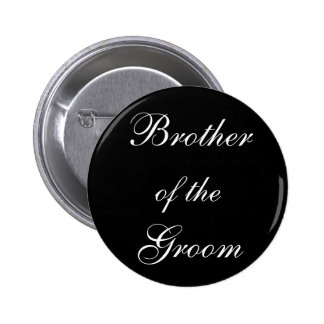Brother of the Groom Pinback Buttons