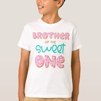 Brother of the Sweet One Donut 1st Birthday Party T-Shirt