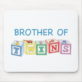 Brother of Twins Blocks Mouse Pad
