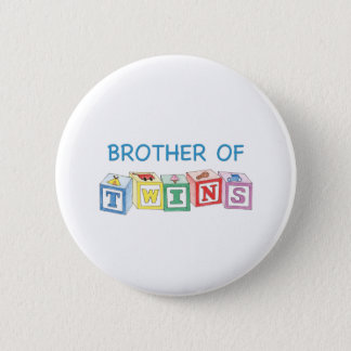 Brother of Twins Blocks Pinback Button