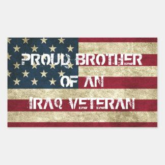 Brother orgulloso de un pegatina del veterano de I