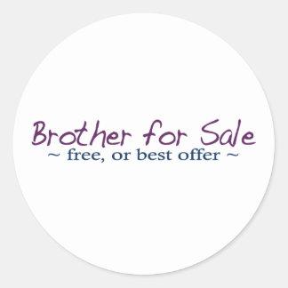 Brother para la venta pegatina redonda