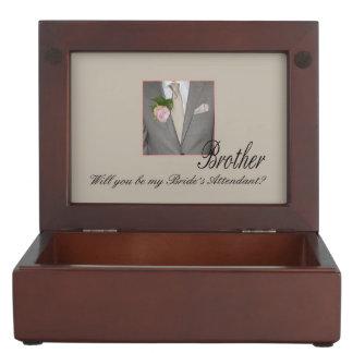Brother  Please be bride's attendant - invitation Memory Box