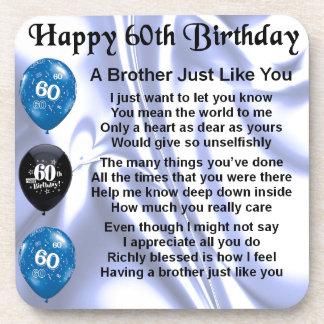 Brother poem 60th Birthday Drink Coaster