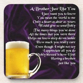 Brother Poem - Beer Drink Coaster