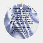Brother Poem - Blue Silk Ceramic Ornament