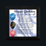 """Brother Poem  Happy Birthday Jewelry Box<br><div class=""""desc"""">A great gift for a brother on his birthday</div>"""