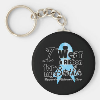 Brother - Prostate Cancer Ribbon Key Chains