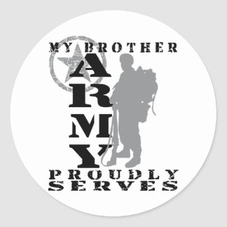 Brother Proudly Serves - ARMY Classic Round Sticker