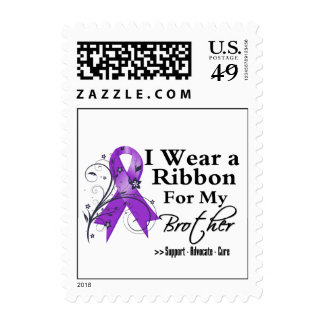 Brother Purple Ribbon - Pancreatic Cancer Stamp