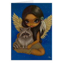 art, raccoon, raccoons, racoon, animal, pet, animals, pets, nature, native, native fairy, native american fairy, american, indian, american indian, fantasy, eye, eyes, big eye, big eyed, jasmine, becket-griffith, becket, griffith, jasmine becket-griffith, jasmin, strangeling, artist, goth, gothic, fairy, gothic fairy, faery, fairies, faerie, fairie, lowbrow, low brow, big eyes, Card with custom graphic design