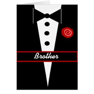 BROTHER sea mi tarjeta del padrino de boda con Tux