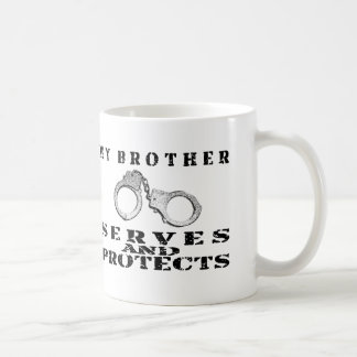 Brother Serves Protects - Cuffs Coffee Mug