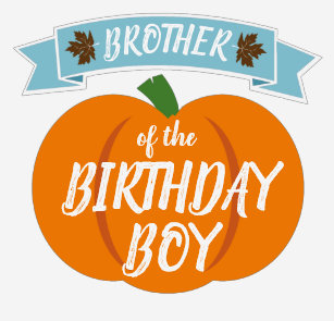 Brother Shirt Pumpkin Birthday For Blue