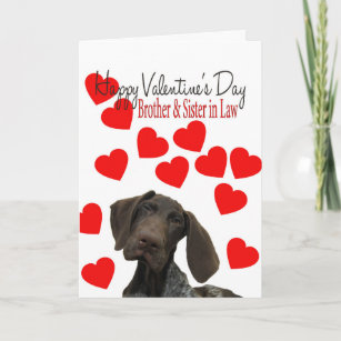 Brother & Sister in Law Glossy Grizzly Valentine Holiday Card