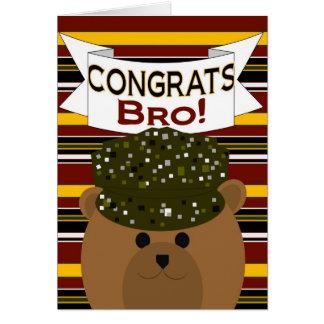 ¡Brother - soldado Congrats del ejército! Tarjeta De Felicitación