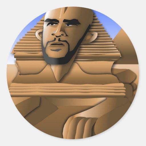 Brother Sphinx Classic Round Sticker