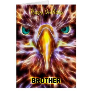 Brother Stylish Birthday Fractal Sea Eagle Cards