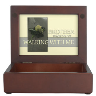 Brother Thanks for Walking me down Aisle Memory Box