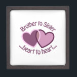 "Brother To Sister Gift Box<br><div class=""desc"">Sister is probably the most competitive relationship within the family,  but once the sisters are grown,  it becomes the strongest relationship</div>"