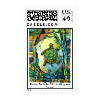 Brother Turtle by Patricia Allingham Carlson Stamp